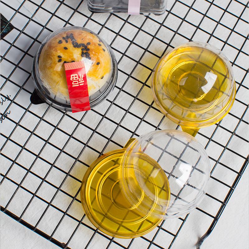 8.80元包邮美涤圆形塑料雪媚娘63-80g月饼盒