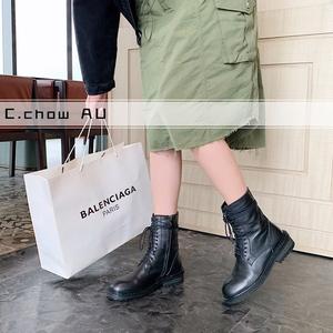 领40元券购买设计师品牌c.chow au黑红马丁靴