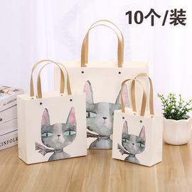 热销爆款礼品袋ins风小清新猫咪纸质手提袋礼品袋生日伴手礼物袋图片