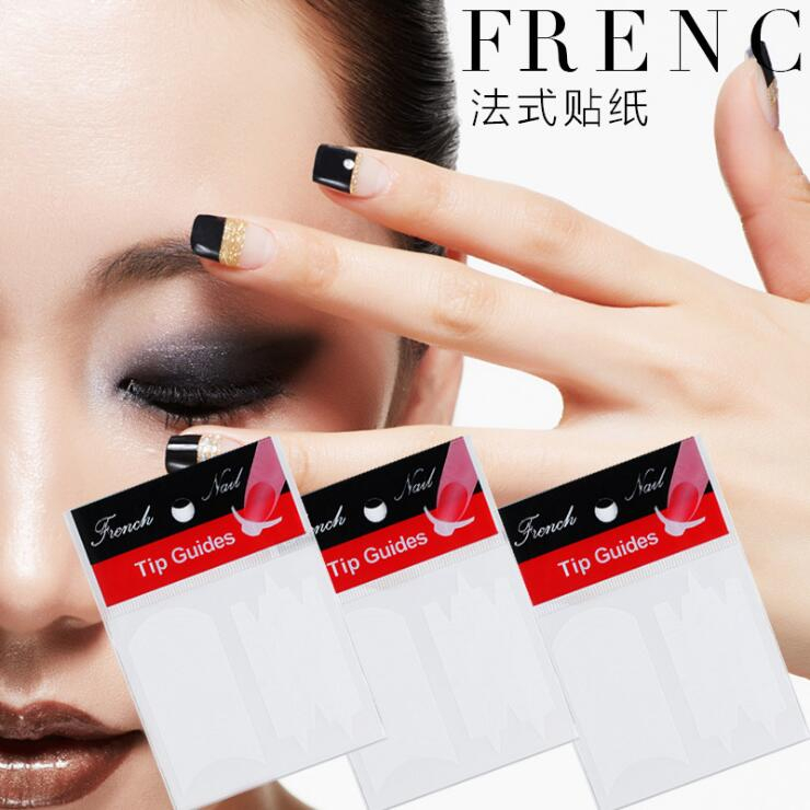 Manicure sticker French smile line manicure French smile stick DIY manicure modeling 24 options