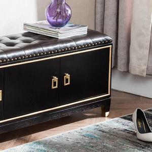 轻奢新中式实木换鞋凳鞋柜沙发凳家用门口穿鞋凳可坐储物凳床尾凳