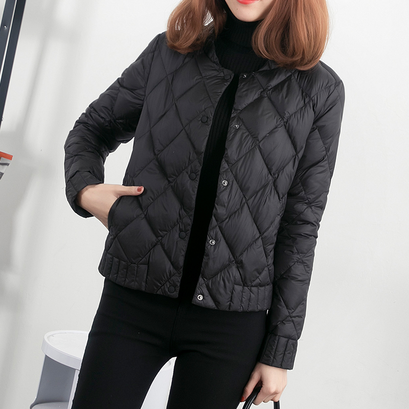 Lightweight down jacket women's 2021 new short paragraph lightweight slim slimming white duck down liner sale ultra-thin jacket