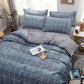 床上四件套全棉纯棉单人学生宿舍被子三件套床品被套网红款床单4