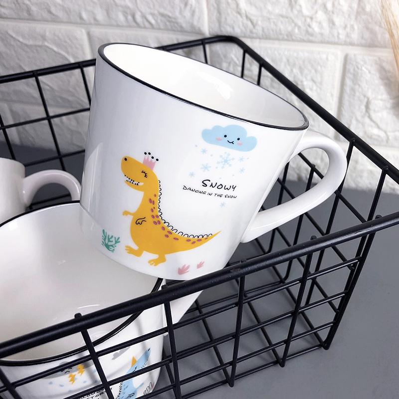 创意马克杯陶瓷水杯ins简约家用早餐杯办公室咖啡杯套装礼盒礼物