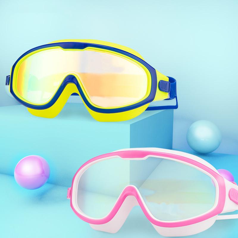 儿童泳镜男童大框防水防雾游泳眼镜