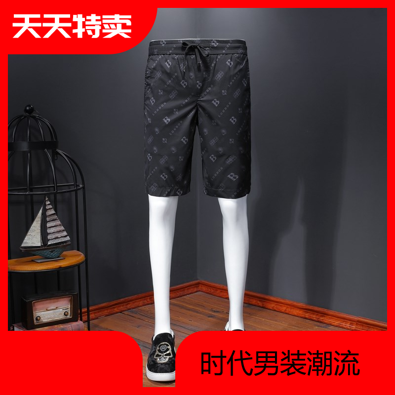 Summer 2020 new shorts mens casual pants letter printed smooth breathable comfortable straight pants popular pants