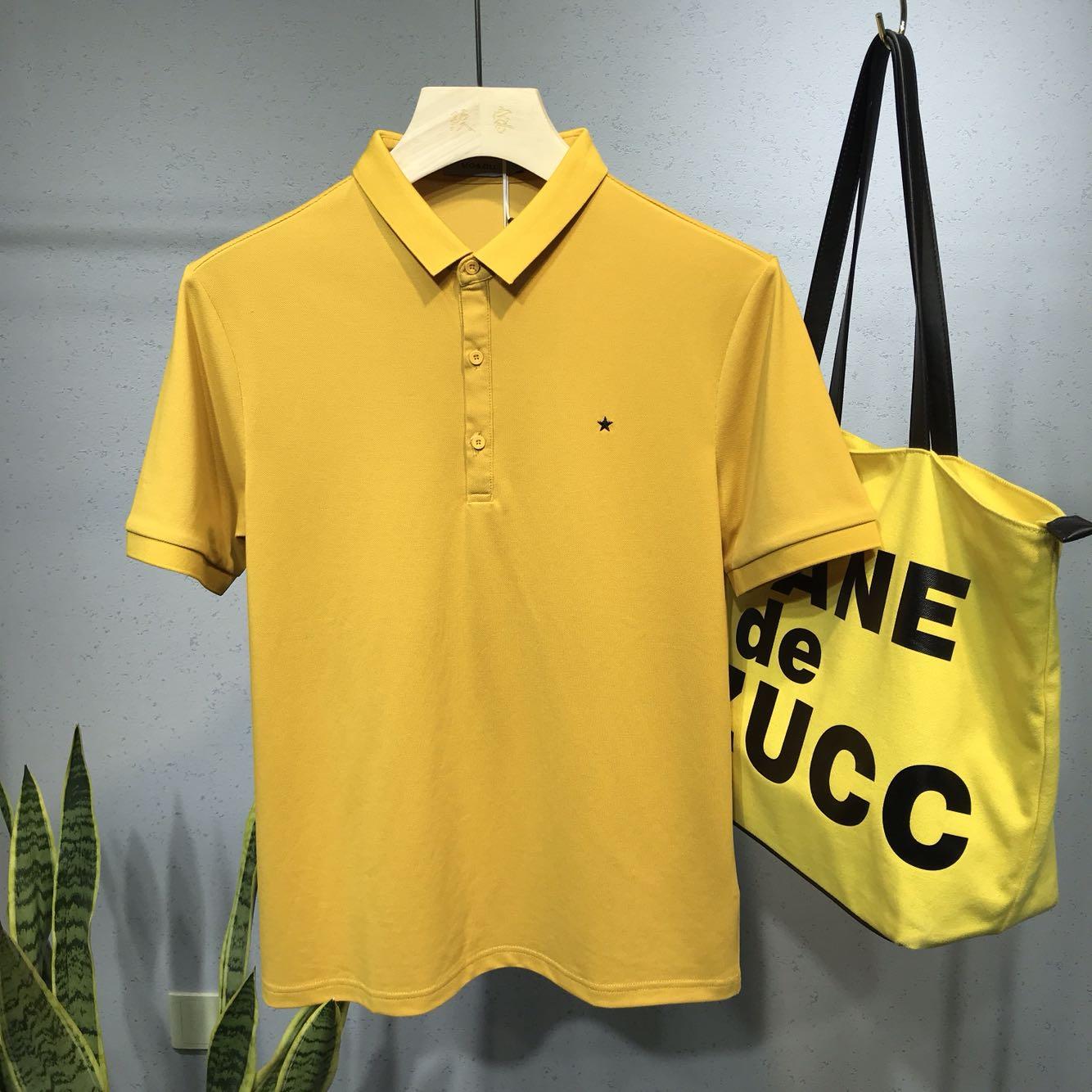 夏季男装新款简约绣标Polo衫短袖男士小翻领t恤韩版修身打底衫潮