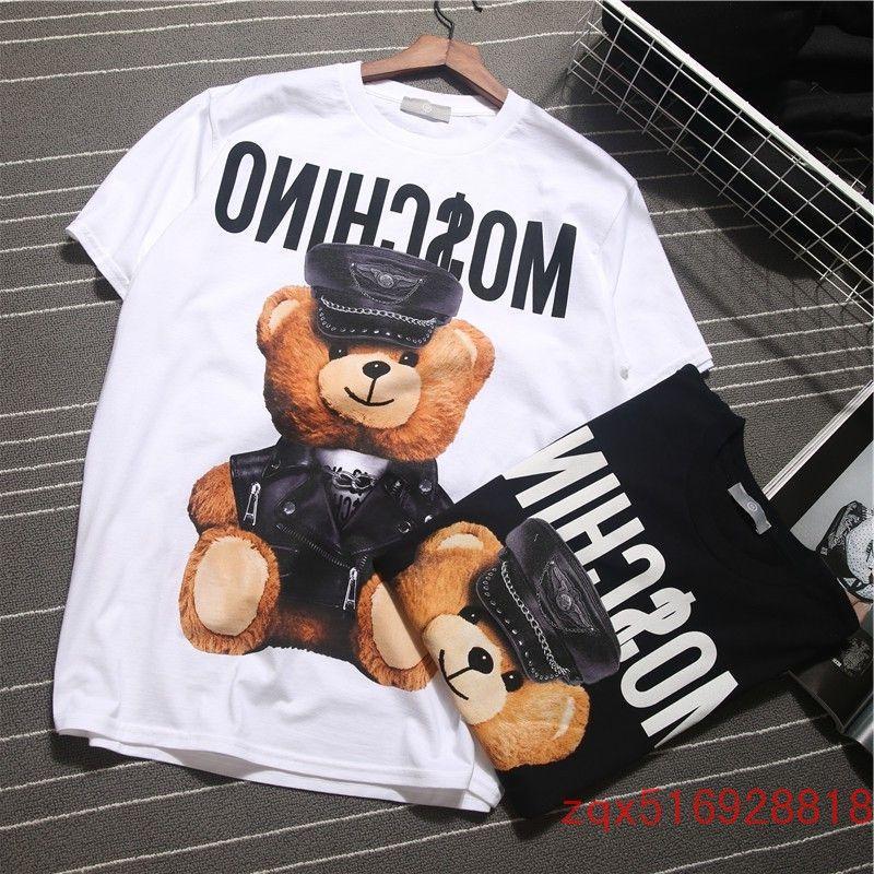 2017 European summer women's dress, cartoon couple T-shirt