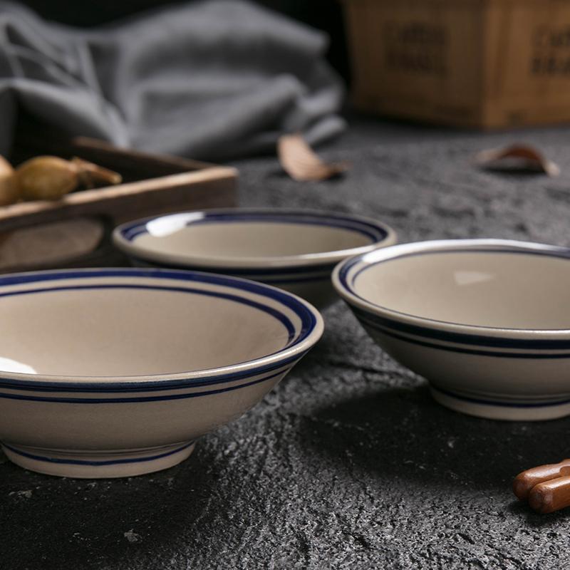 中国风老式敞口斗笠中式菜碗小酒碗