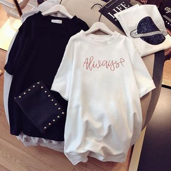 2020新款夏装ins韩版白色短袖t恤女宽松卡通港风百搭半袖原宿款
