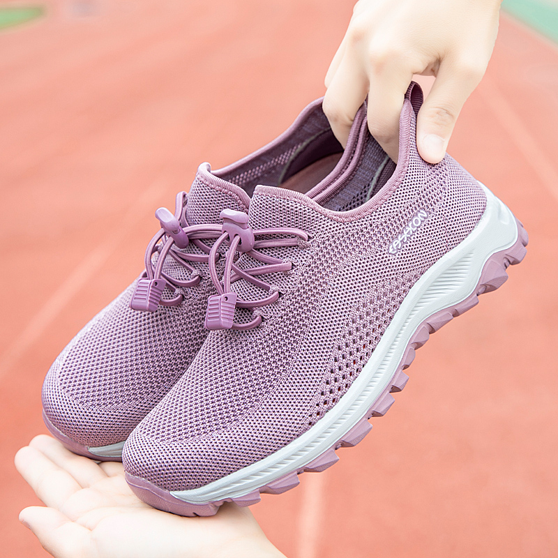 Zulijian middle aged and elderly womens sports shoes genuine autumn and winter baby comfortable middle aged mother light soft sole walking shoes