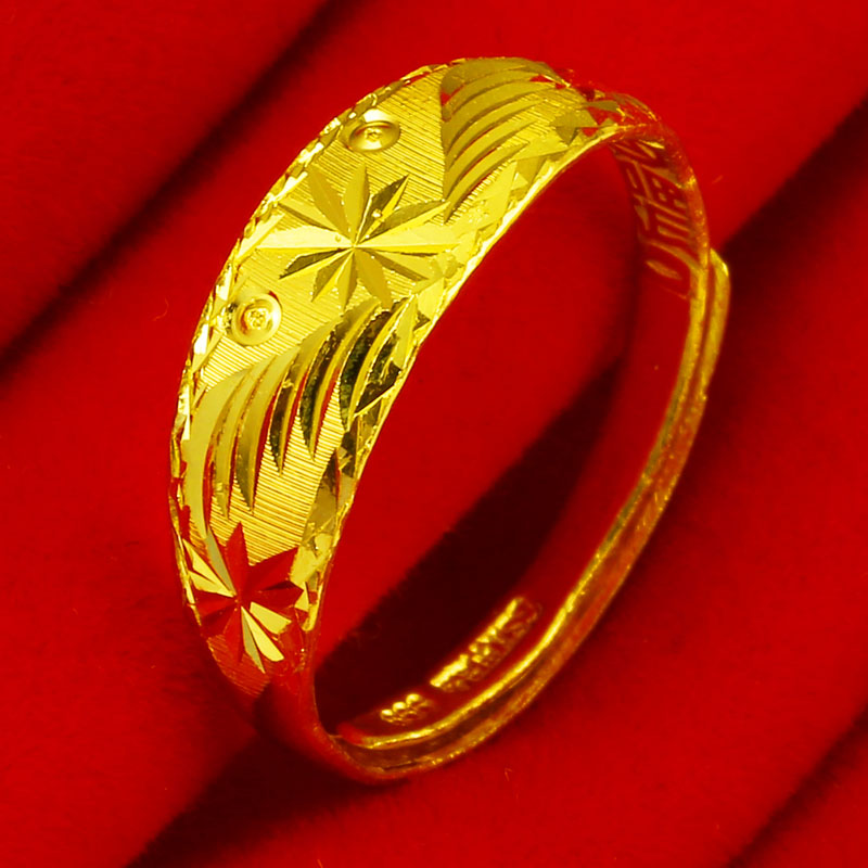 Genuine Gold Ring 999 Pure Gold Men's and Women's Rings Gypsophila 24K Gold Pure Gold Jewelry Real Gold Jewelry Mother