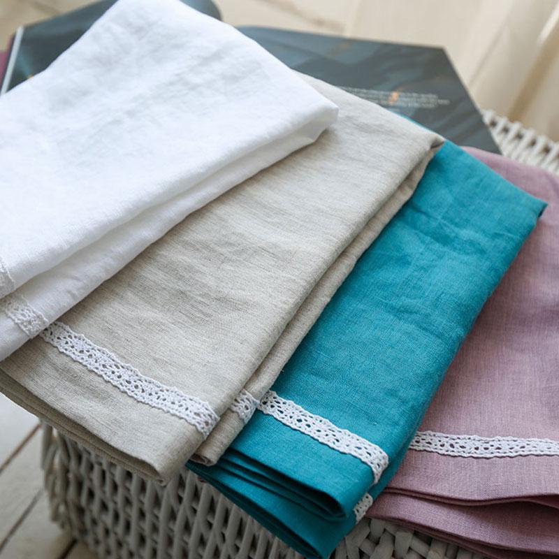 限时抢购纯亚麻枕巾天然舒适透气吸汗法国进口纯色全麻枕头布 单只