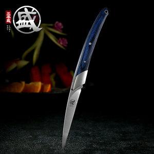 日本进口食品雕刻刀主刀折叠水果雕花刀厨房厨师水果盘刀具