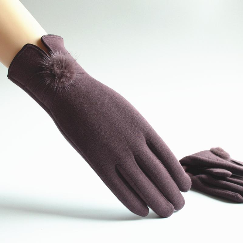 手袋の女性の保温手袋秋冬手袋女性のカシミヤのタッチパネル手袋は自転車に乗ってレジャーをします。
