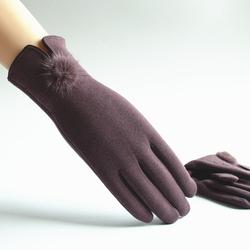 秋冬加绒触摸屏骑车休闲保暖手套
