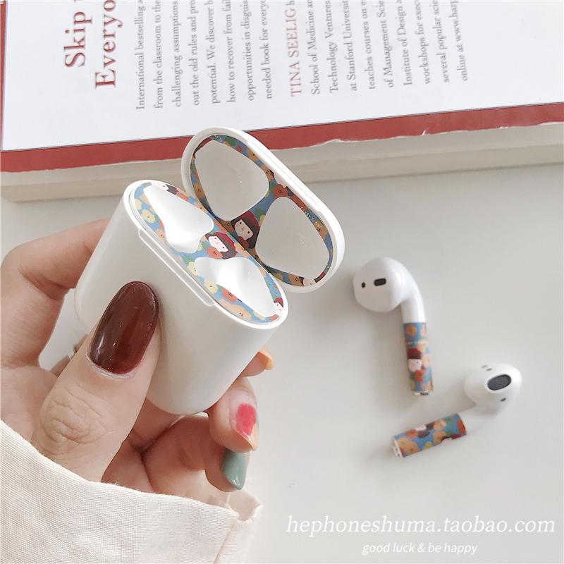 韩风ins卡通贴纸 airpods苹果耳机