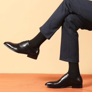 手工内增高商务正装皮鞋真皮英伦牛津新郎结婚鞋尖头系带男鞋