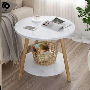 地中海飘窗桌阳台墙角现代会客小型简约客厅小圆桌北欧整理盒角几
