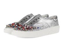 新款夏季圆头女鞋平底镶钻水钻单鞋甜美浅口休闲鞋小白鞋
