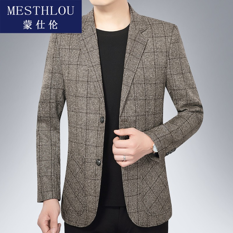Mens casual suit mens 2020 new middle age casual Western coat