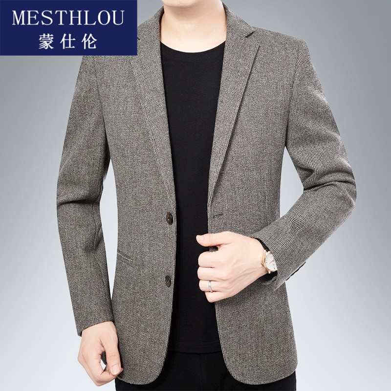 Mens casual suit 2020 new spring and autumn mens single west thin thin coat slim suit western middle age jh0922