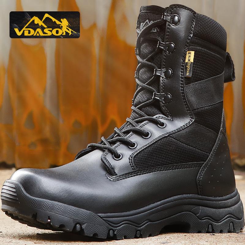 正品07作战靴男冬季军靴超轻特种兵战术靴减震防水保暖羊毛防寒靴
