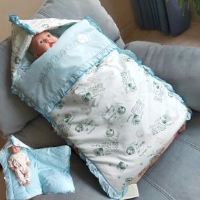 新品婴儿睡袋春秋防踢被纯棉新生儿防惊跳婴幼儿被子宝宝外出抱被