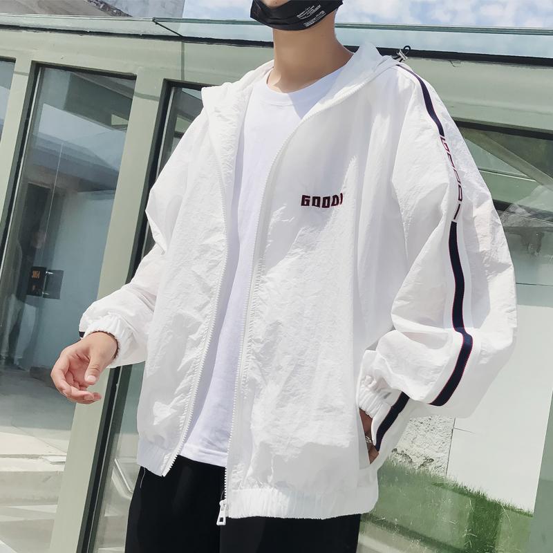 2020夏季防晒衣男生外套韩版潮流宽松青少年港风bf棒球服夹克男图片