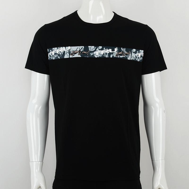 Truazdia summer simple print short sleeve t-shirt mens creative pattern T-shirt letter round neck tee versatile