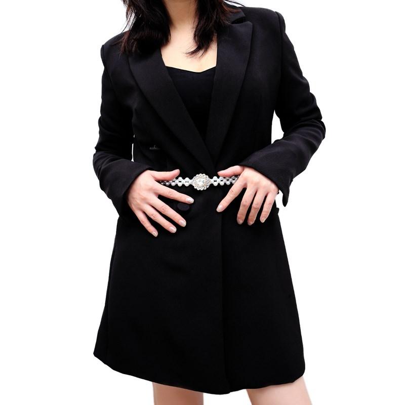 Beaded woven elastic diamond inlaid jewelry waist chain for womens new sweet simple dress accessories waist chain
