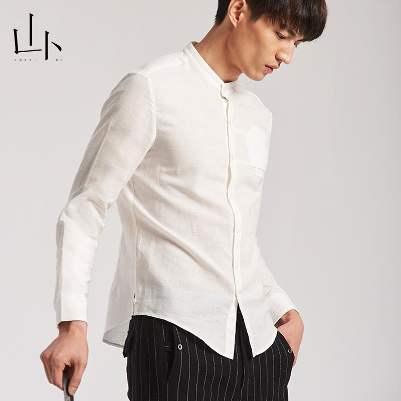 Shanbu original art long sleeve shirt for mens leisure