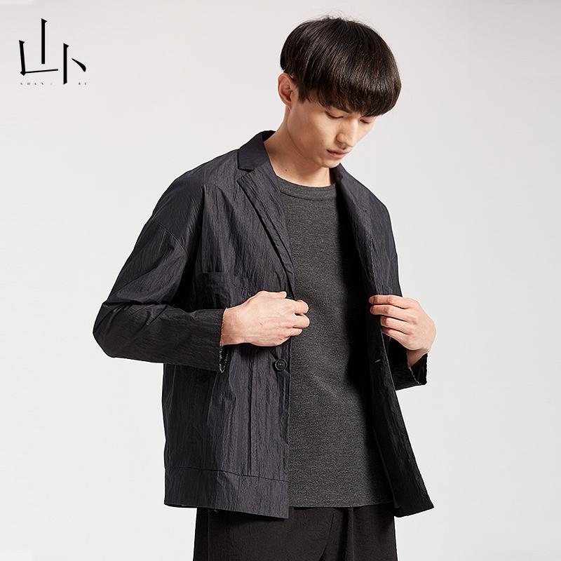 Shanbu mens original short jacket spring fashion business coat casual simple thin top