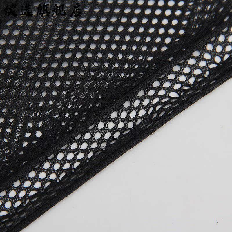 网布网纱网眼布料 辅料运动服装鞋包 钓鱼网布料面料制服黑白色