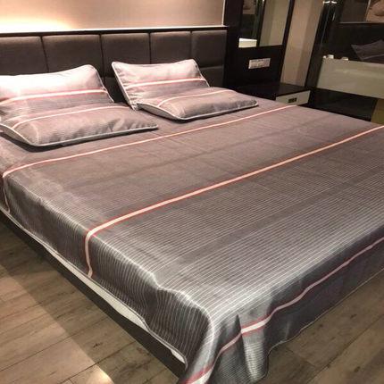 无印品冰丝凉席款三件套可折叠床单