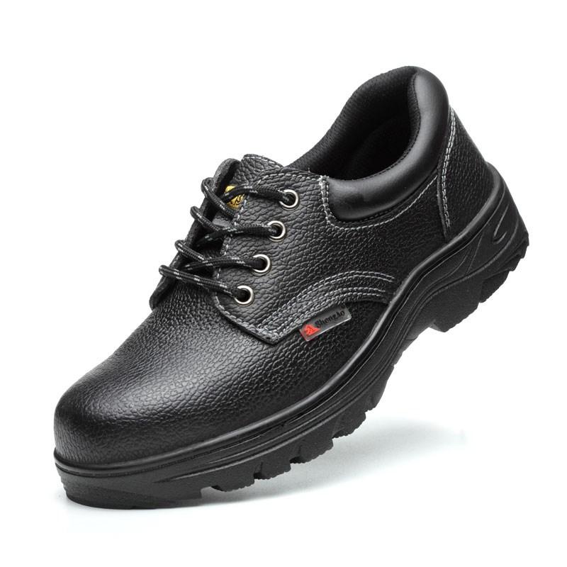 新品带钢板劳保鞋男上班工作鞋钢头工装鞋大头鞋鞋带铁头