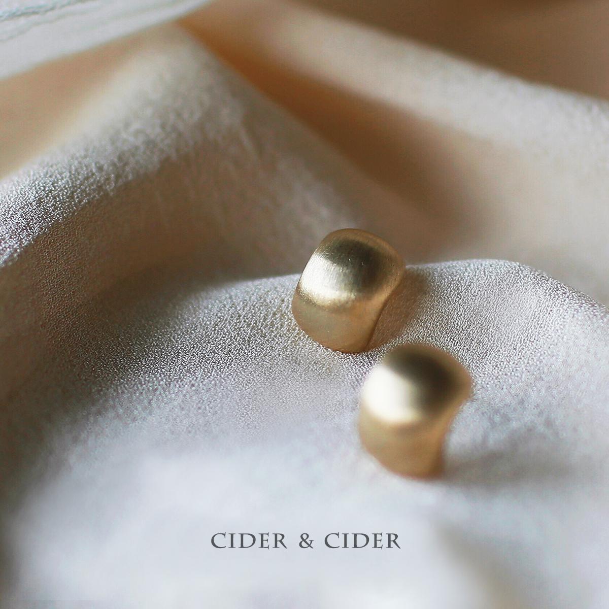 Cider 欧美简约冷淡风拉丝镀金耳钉设计感小众法式耳环金(银色)