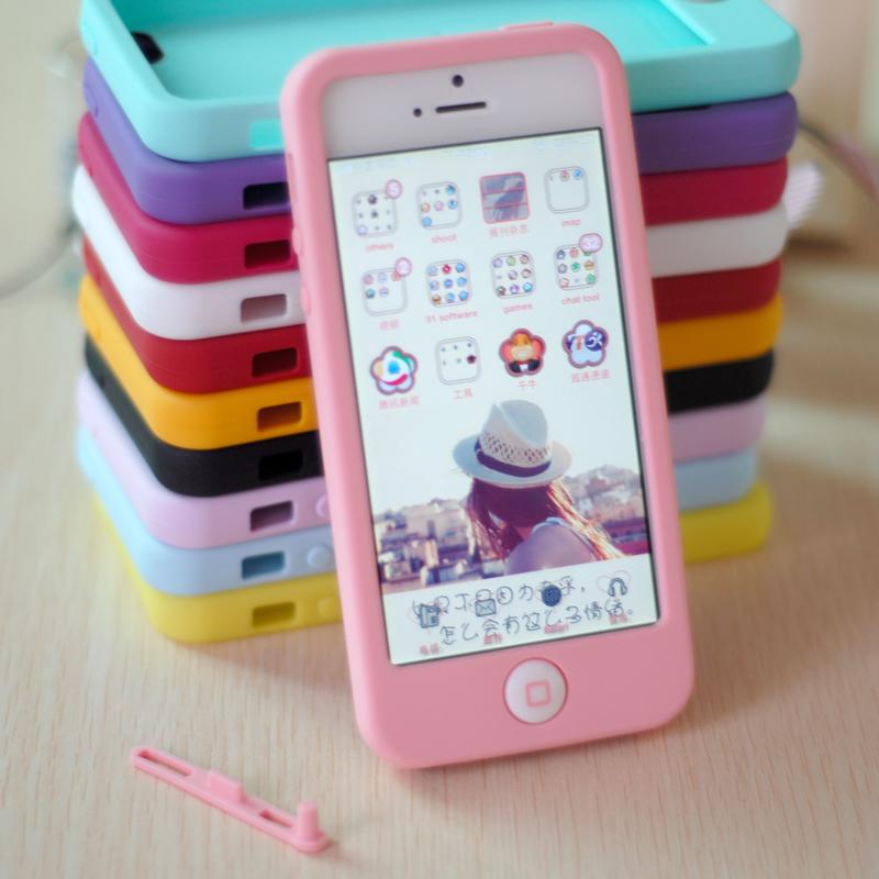 苹果SE壳iphone5s硅胶保护套软壳5韩国可爱聪明豆潮女防摔壳