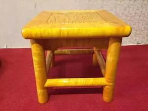 大叶金丝楠木雕官帽椅靠背椅圆雕复古家具儿童小凳子实木椅子送礼