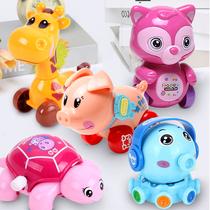 婴幼儿童上链发条会跑的宝宝亲子怀旧3动物4周岁男女孩上劲小玩具