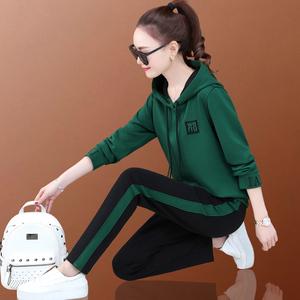 女士运动服套装2021新款哈伦卫衣