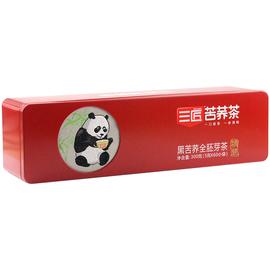 三匠黑苦荞全胚芽茶300克铁盒装大凉山熊猫四川特色成都韵味正品图片