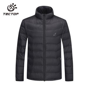 TECTOP/探拓冬季潮牌羽绒服男士马甲轻薄保暖羽绒衣运动长袖外套
