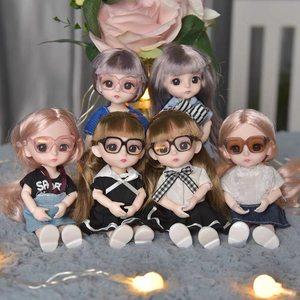 迷你掌心娃娃婚纱芭比娃娃套装可爱小教主换装17厘米女孩生日礼物