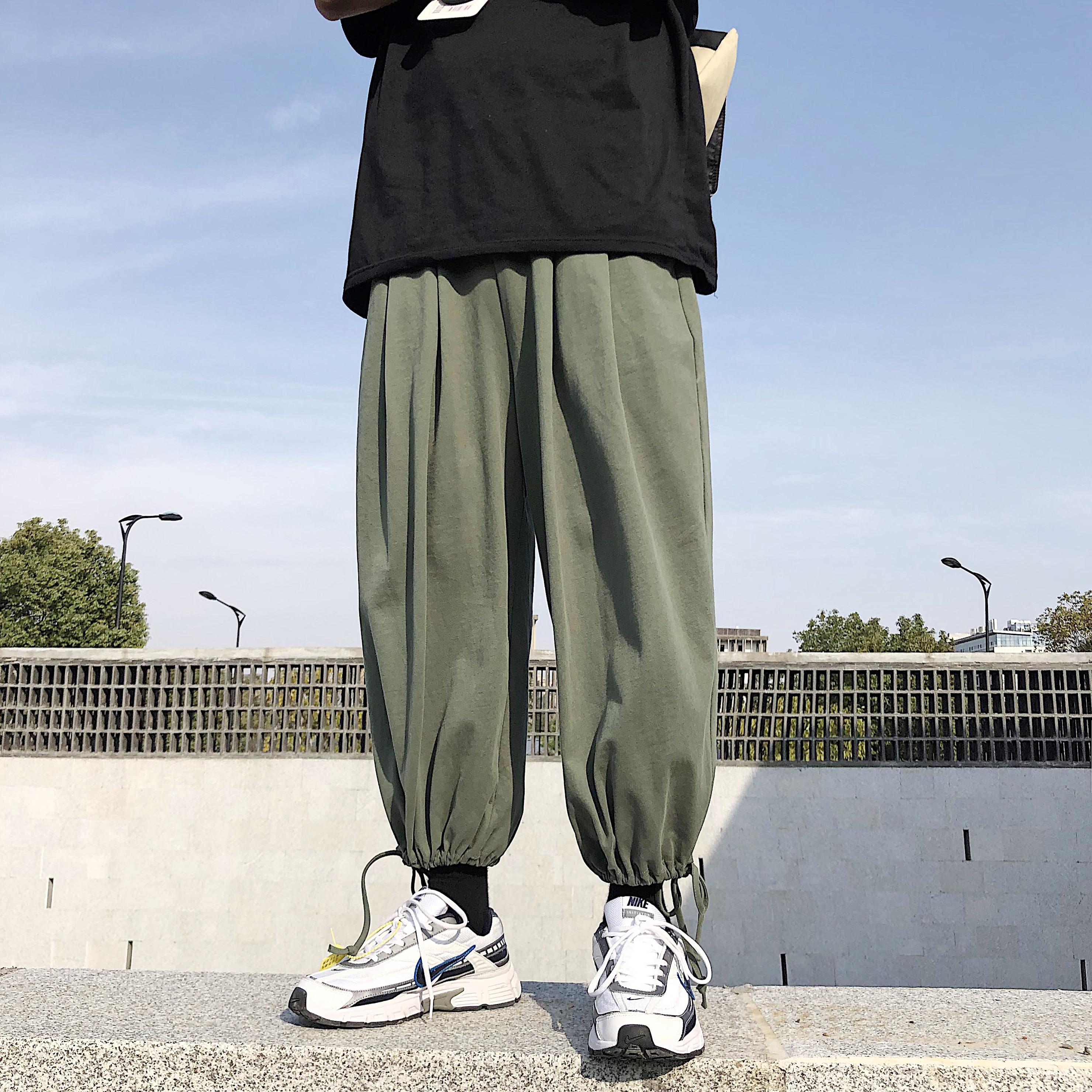 系带抽褶宽松休闲裤灯笼裤萝卜裤百搭哈伦裤ck20-p70