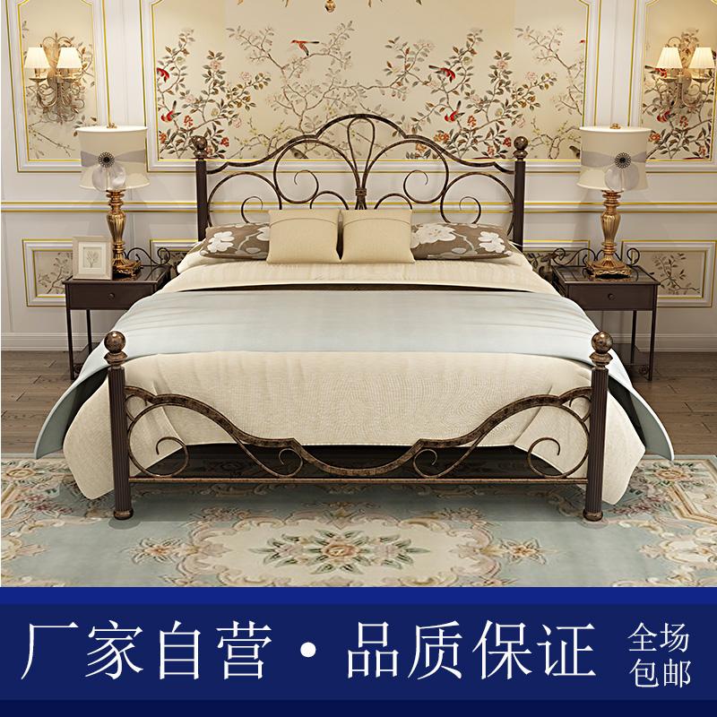 鑫礼豪铁艺床双人床欧式复古公主环保单人床1.8米1.5米加厚加固