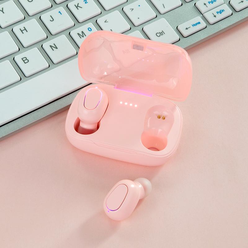 蓝牙耳机双耳真无线运动跑步入耳式一对5.0隐形超长待机迷你微小型适用苹果安卓通用vivo小米华为女生款可爱 thumbnail