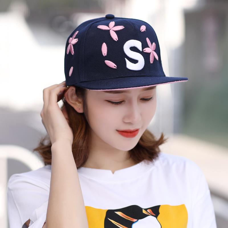 秋冬嘻哈平沿帽韩版学生街舞遮阳帽