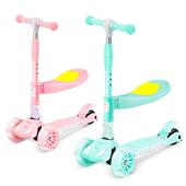 瑞士三合一儿童滑板车带座椅可折叠儿童玩具车