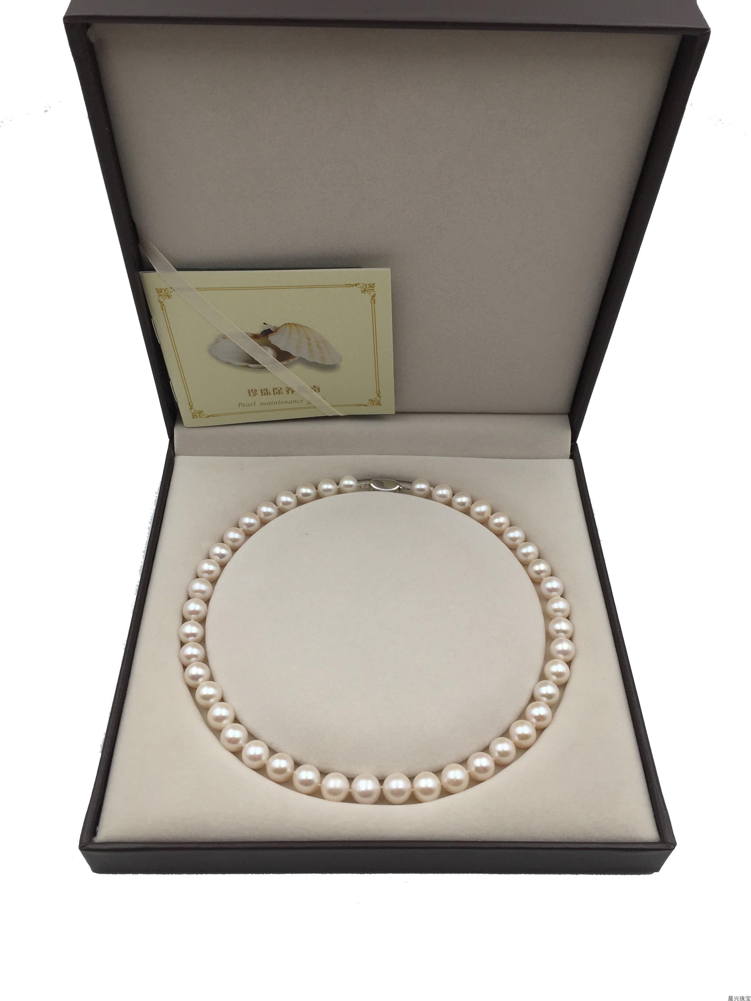 天然淡水珍珠近圆圆润项链,妈妈母亲婆婆女神仙女链生日节日好礼